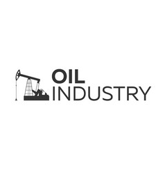 Oil industry logo tower oil exploration vector