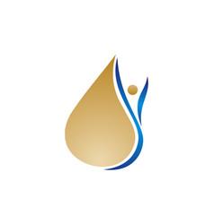 oil olive logo vector image