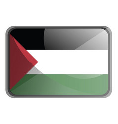 palestine flag on white background vector image