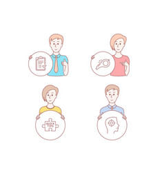 Quick tips approved checklist and whistle icons vector