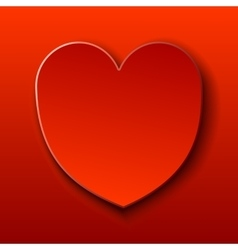 Red card for Valentine red heart vector image