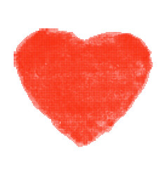 red heart halftone raster texture vector image