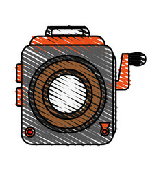 Retro photo camera icon vector