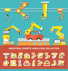 robotic arm colored composition vector image