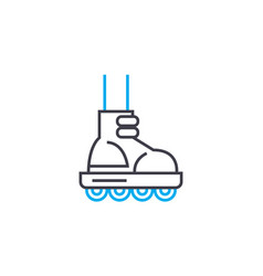 roller skating linear icon concept roller skating vector image