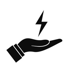 save energy icon simple style vector image