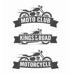 Set of vintage motorcycle labels badges and logos vector