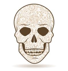 skull pattern vector image
