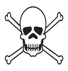 Skull3 resize vector image vector image