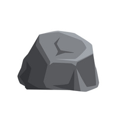 Solid gray stone with lights and shadows large vector