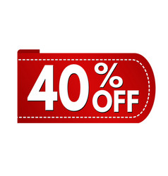 special offer 40 off banner design vector image