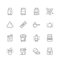 Sport nutrition icon vitamine active supplement vector