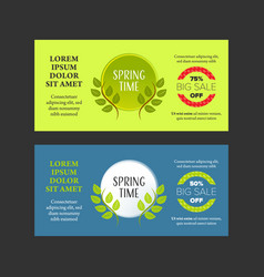 Springtime banners set vector