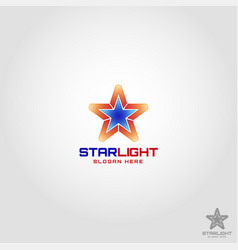 star light logo template vector image