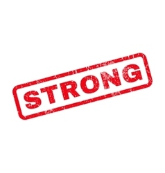 Strong rubber stamp vector