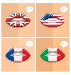 Study languages concept vector