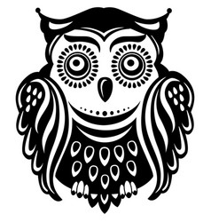 Stylized decorated owl vector