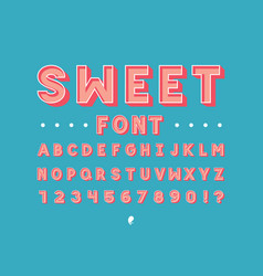 sweet font alphabet vector image