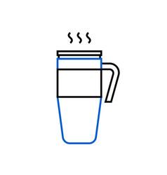 Thermo mug reusable cup for take away coffee vector