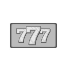 Triple lucky sevens icon black monochrome style vector image