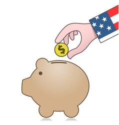 United states economy and savings vector