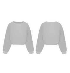 woman grey crop hoodie vector image