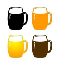 beer mugs vector image