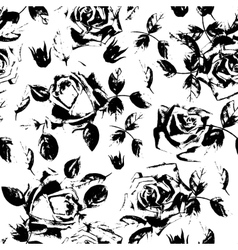 Black roses grunge seamless pattern Stylish vector image vector image