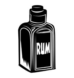 Bottle of rum vector image vector image