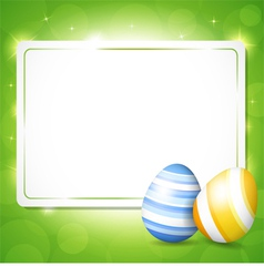 Card for easter with eggs vector