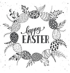 easter greetting card vector image