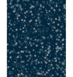 Snowfall Seamless pattern vector image