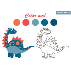 dinosaur coloring vector image