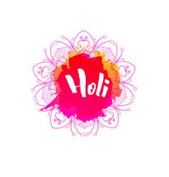 holi holiday emblem vector image