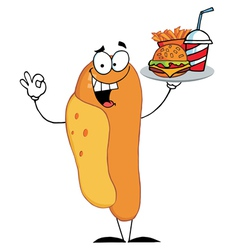 Hot Dog Mascot Cartoon Character vector image