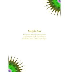 Multicolored page corner design template vector image