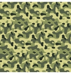 Seamless editable military pattern with camouflage vector image