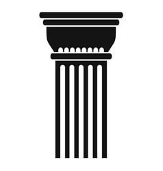 building column icon simple style vector image