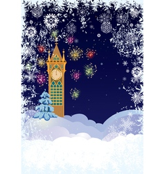 Christmas tower vector image vector image