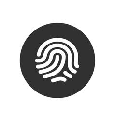 Fingerprint identification system vector image