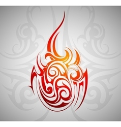 Fire flame ornament vector image vector image