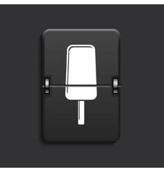 modern scoreboard black icon vector image