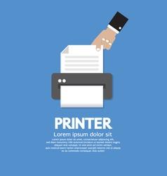 Printer vector image vector image