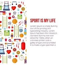 Sport is my life set vector image vector image