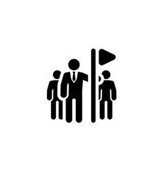 team leader icon flat design vector image vector image