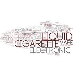 E-liquid word cloud concept vector