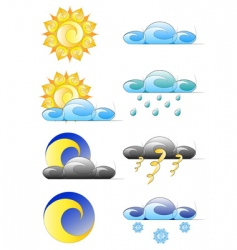 set of weather climate icons vector image
