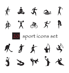 summer Olympic games 20 twenty icon set vector image