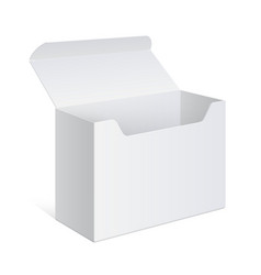 white package box opened for electronic device vector image