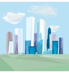 02 polygonal cityscape vector